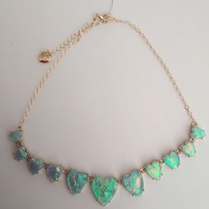 Betsey Johnson Opal-Like Heart Necklace